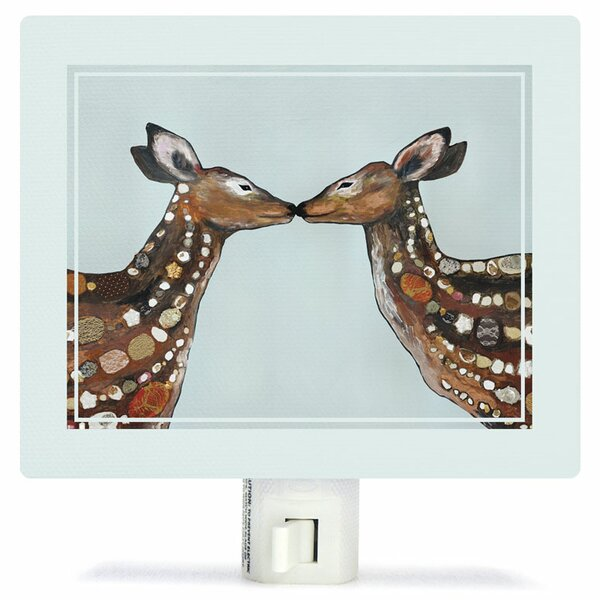Deer Love by Eli Halpin Canvas Night Light by Oopsy Daisy