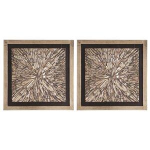'Bark' Framed Textured Art (Set of 2) by World Menagerie