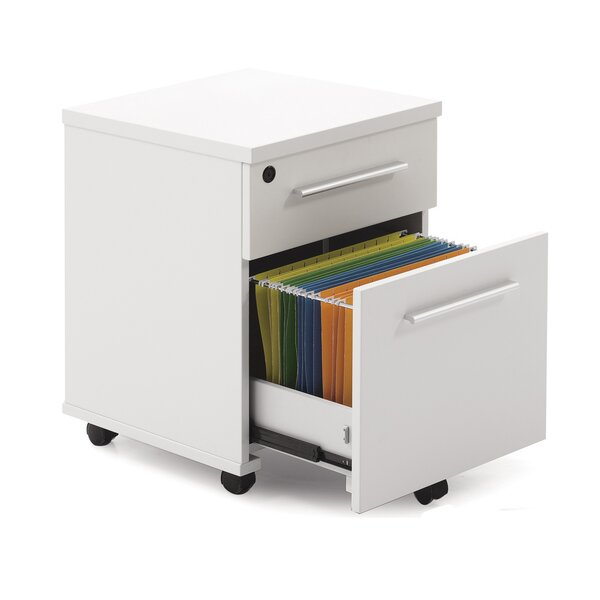 Pure Office 2- Drawer Mobile File Cabinet by Haaken Furniture