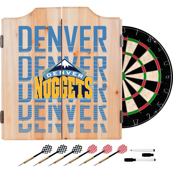 NBA City Dartboard and Cabinet Set by Trademark Gl