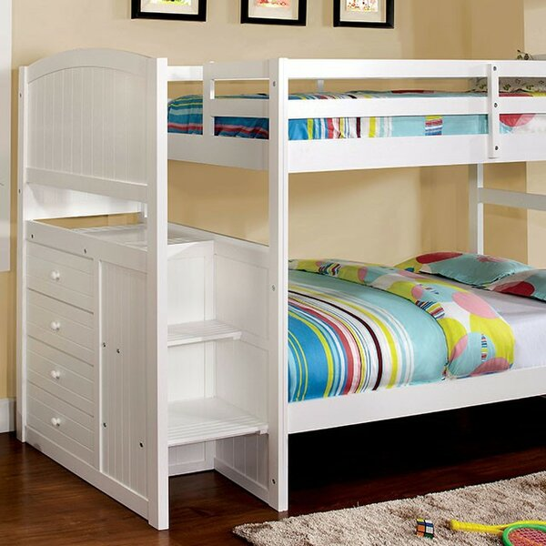 Farallones Twin over Twin Bunk Bed with Drawer by Harriet Bee