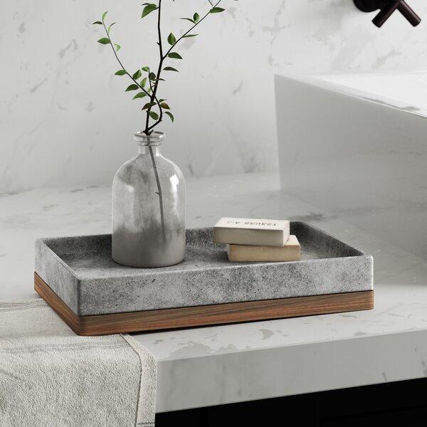Stonington Concrete Stone/Wooden Amenity Tray by Greyleigh