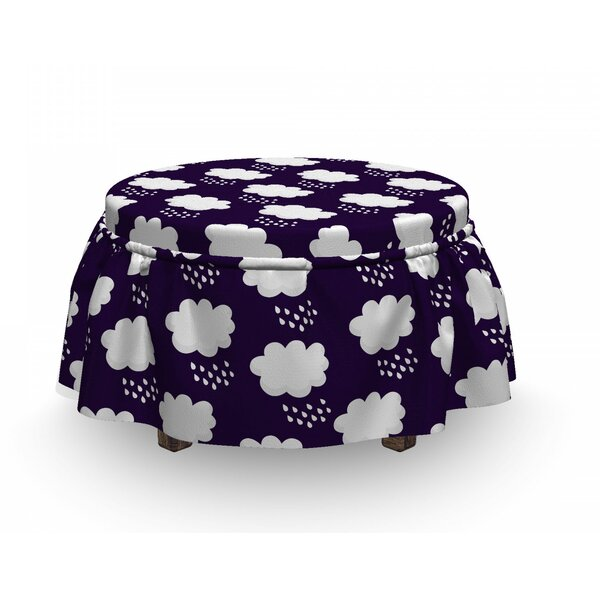 Raining Cumulus Clouds Ottoman Slipcover (Set Of 2) By East Urban Home