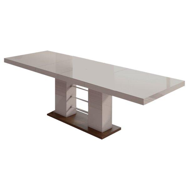 Surbit High Gloss Extendable Dining Table by Orren Ellis Orren Ellis