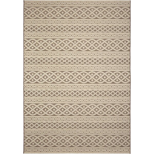 Acton Tan/Ivory Indoor/Outdoor Area Rug by Three Posts