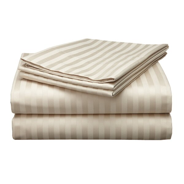 Milne 800 Thread Count Egyptian Quality Cotton Stripe Pillow Cases (Set of 2) by The Twillery Co.