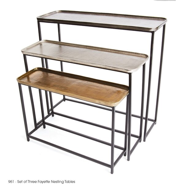 Fitch 3 Piece Nesting Tables by 17 Stories