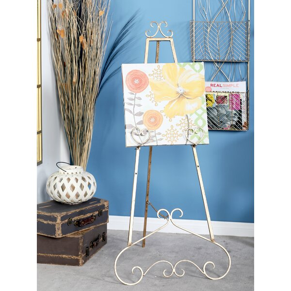 Traditional Scrolled Heart Tripod Easel by Cole & Grey