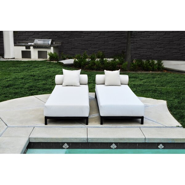 Gruver Sun Lounger Set with Cushions (Set of 4) by Wrought Studio