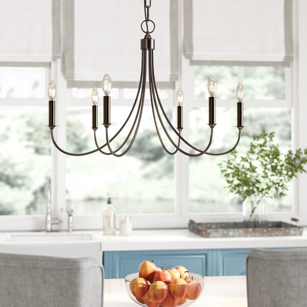 Makushin 6-Light Candle Style Classic / Traditional Chandelier by Laurel Foundry Modern Farmhouse Laurel Foundry Modern Farmhouse