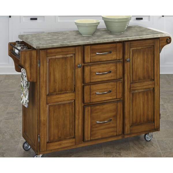 Create-a-Cart Kitchen Island with Concrete Top by Home Styles