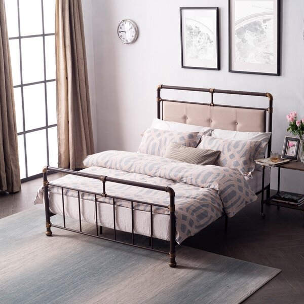 Cowgill Metal Upholstered Panel Bed by 17 Stories
