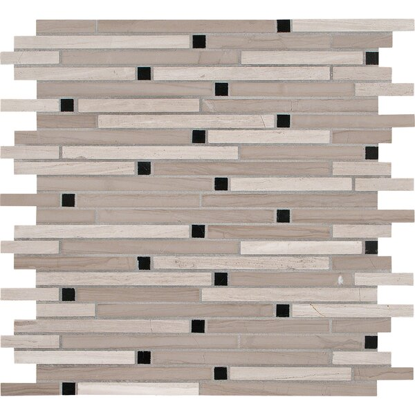 Interlocking Honed Marble Mosaic Tile in White Oak by MSI