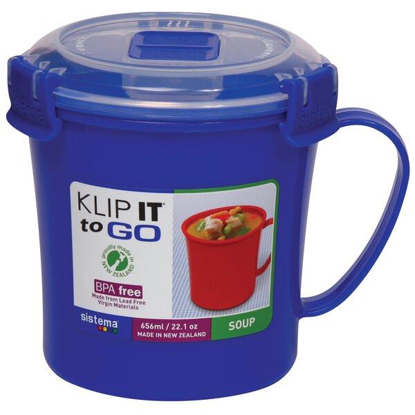 Klip It Soup Mug By Sistema Usa.