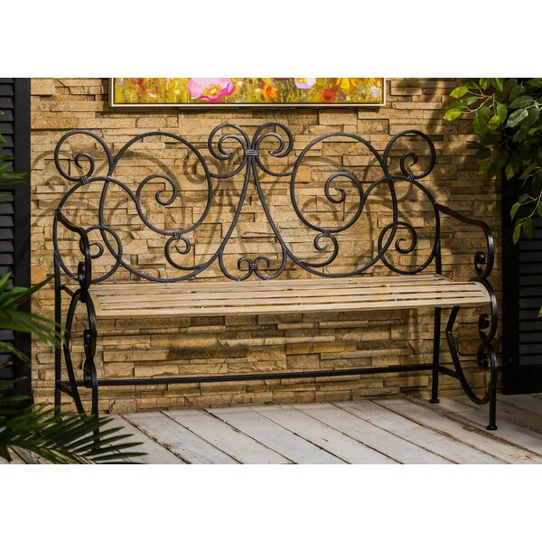Claysville European Style Metal Park Bench by Fleur De Lis Living
