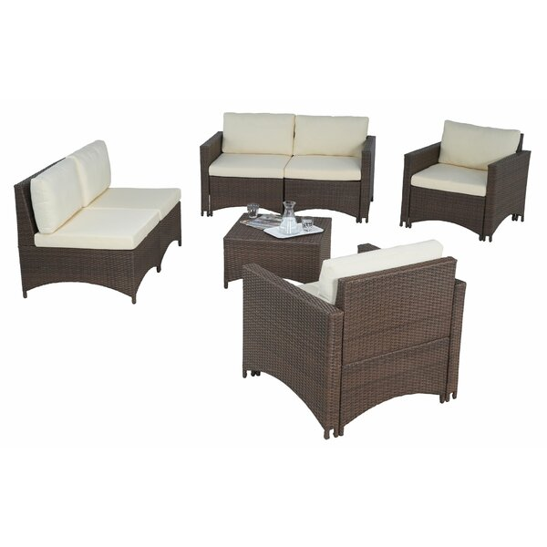 Whimbrel 6 Piece Sofa Seating Group with Cushions by Ebern Designs