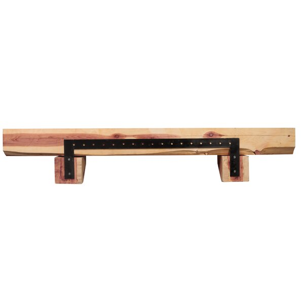 Cedar Live Edge Log Fireplace Shelf Mantel by Pearl Mantels