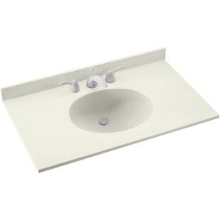 Top Reviews Ellipse 31 Single Bathroom Vanity Top BySwan Surfaces
