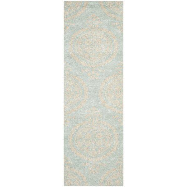 Backstrom Tufted Wool Powder Blue/Beige Rug