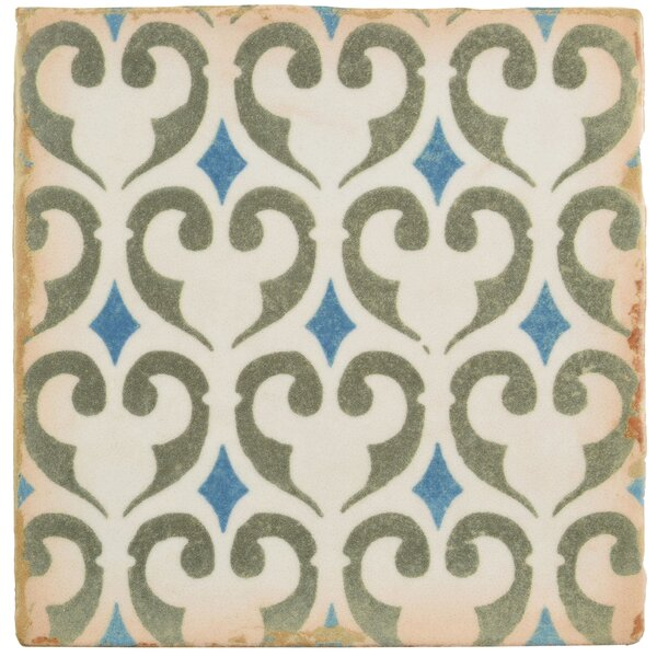 Arquivo 4.875 X 4.875 Ceramic Field Tile in Green/Blue by EliteTile