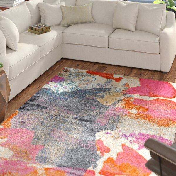 Virgil Pink Area Rug by Mercury Row