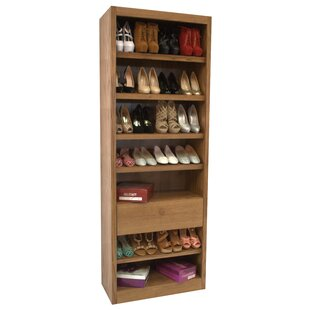 Bargain 7-Tier 28 Pair Shoe Rack By Concepts in Wood