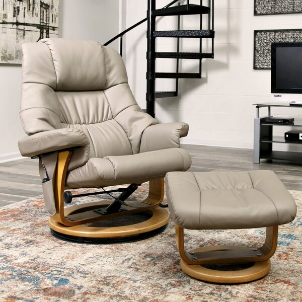 Reclining Massage Chair with Ottoman by Red Barrel
