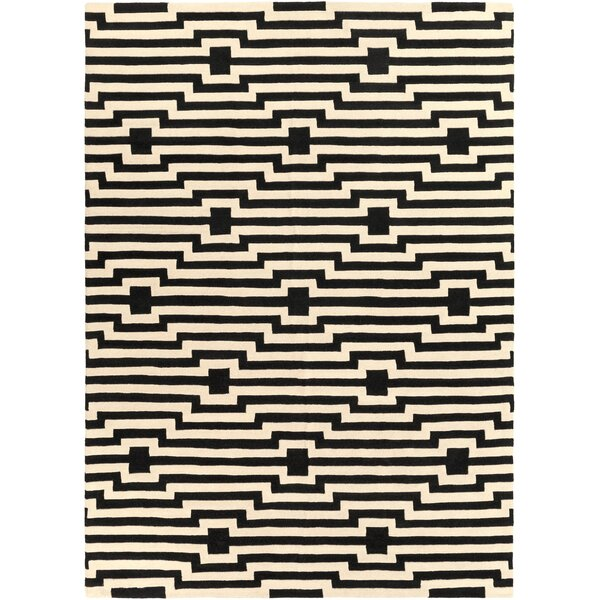 Zeitz Hand-Tufted Black Area Rug by George Oliver