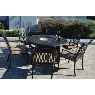 Baragrey 7 Piece Dining Set with Cushions By Fleur De Lis Living