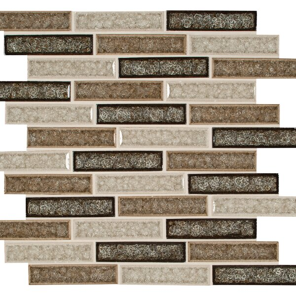 Venetian Cafe 1 x 4 Glass Mosaic Tile in Brown by MSI