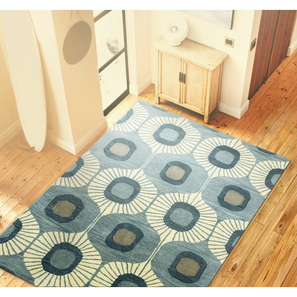 Fremont Wool Light Blue Area Rug by Langley Street