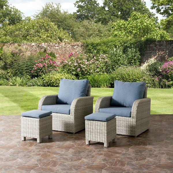 Killingworth 4 Piece Conversation Set with Cushions by Rosecliff Heights