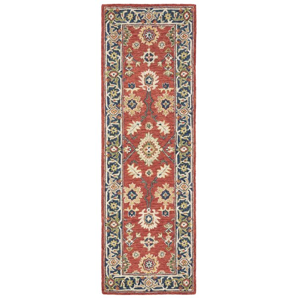 Alfresco Hand Knotted Wool Red Rug