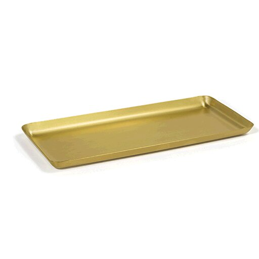 Lockett Brushed Stainless Amenity Bathroom Accessory Tray by Ebern Designs