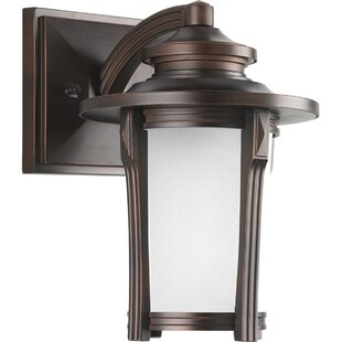 Affordable Price Triplehorn 1-Light Efficient Wall Lantern By Alcott Hill