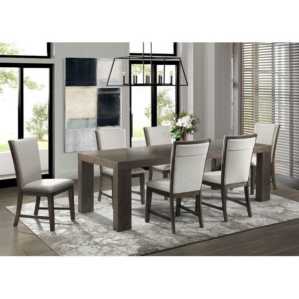 Ruthton 7 Piece Solid Wood Dining Set by Gracie Oaks Gracie Oaks