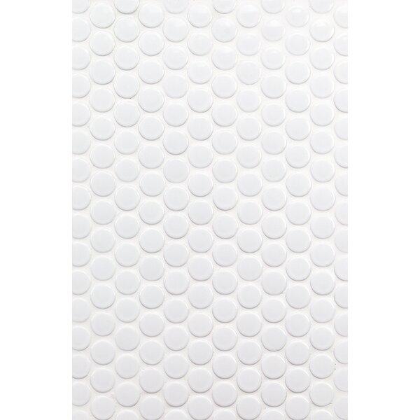 Bliss 1 x 1 Ceramic Mosaic Tile in White by Splashback Tile