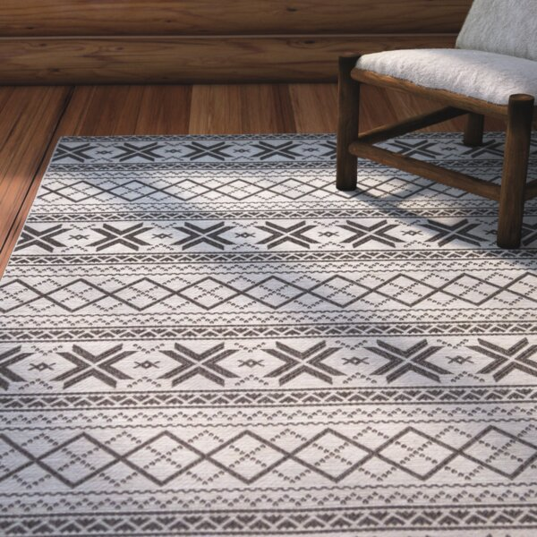 Mizpah Charcoal Indoor/Outdoor Area Rug by Loon Peak