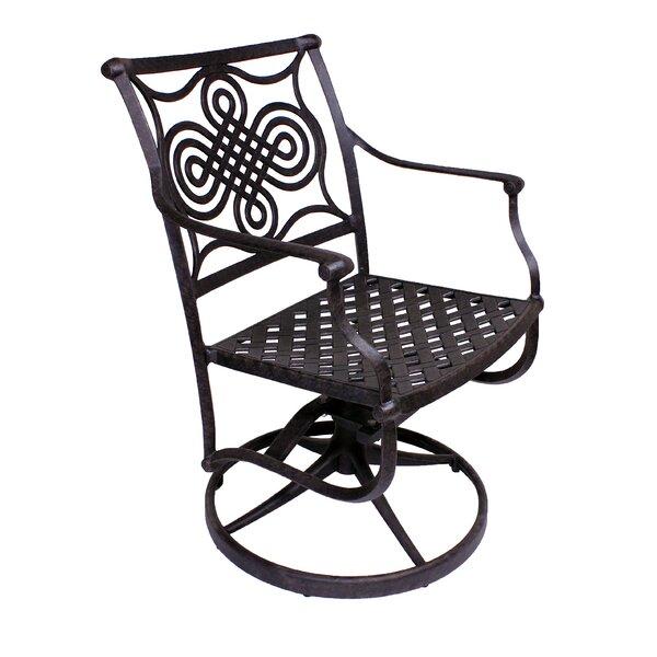 Juanita Rocker Swivel Patio Dining Chair (Set of 2) by Alcott Hill