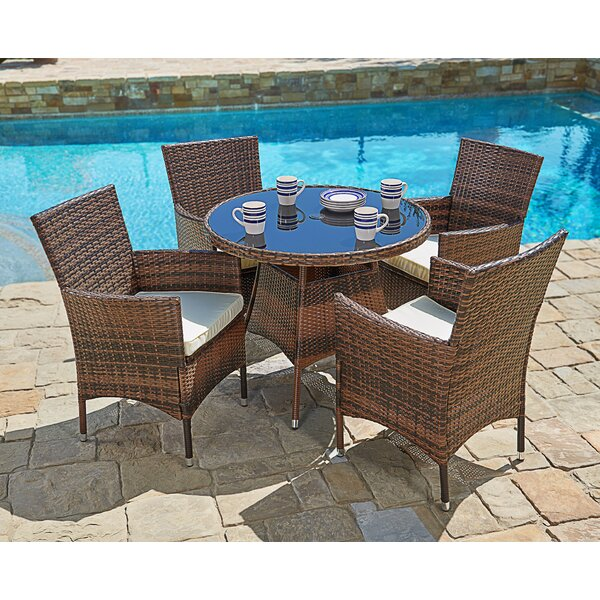Behrens Outdoor 5 Piece Dining Set With Cushions By Brayden Studio