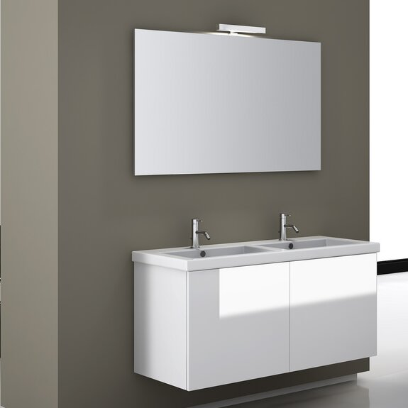 Space 46.8 Wall Mount Double Bathroom Vanity Set by Iotti by Nameeks