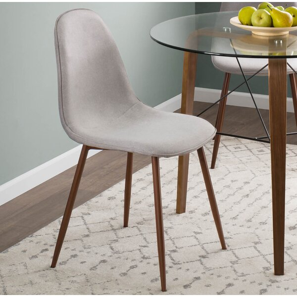 Birdsall Mid-Century Modern Upholstered Dining Chair (Set of 2) by George Oliver