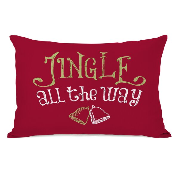 Jingle All the Way Lumbar Pillow by One Bella Casa