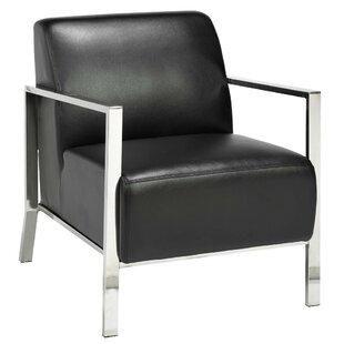 Leather Stainless Steel Frame Chair | Wayfair