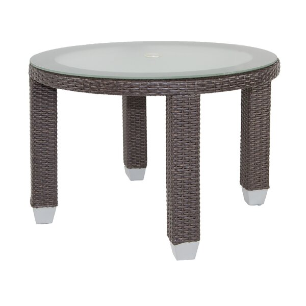 Signature Dining Table Round with Tempered Glass Top by Patio Heaven