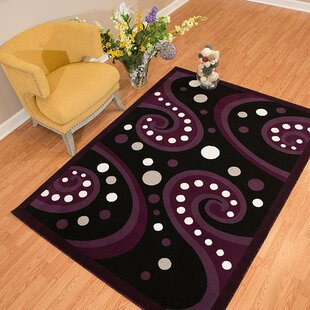 Price comparison Allenville Plum/Black Area Rug By Winston Porter
