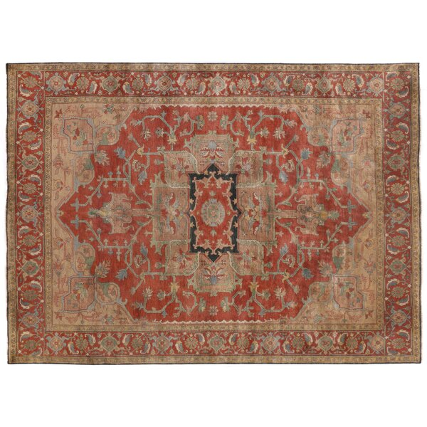 Serapi Hand-Knotted Wool Red Area Rug by Exquisite Rugs