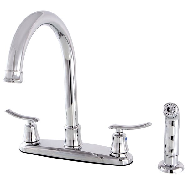 Jamestown Double Handle Kitchen Faucet with Side Spray by Kingston Brass