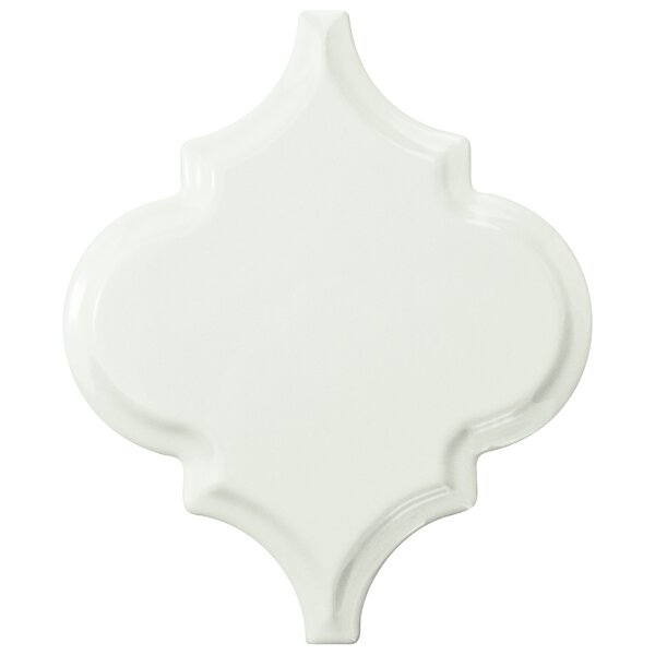 Biselat Beveled Grand 5.5 x 6.63 Lantern Ceramic Field Tile in White by EliteTile