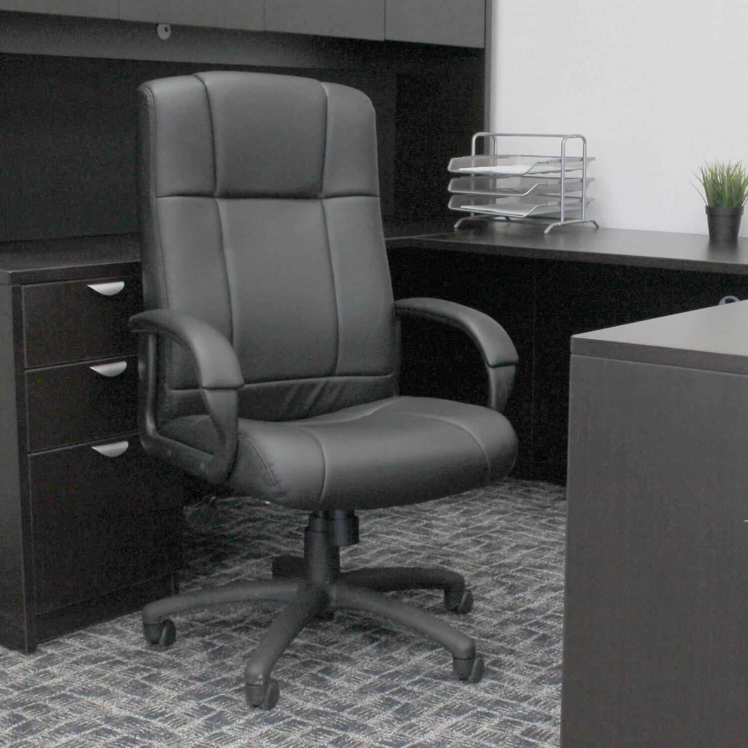 boss office products high back executive chair reviews wayfair